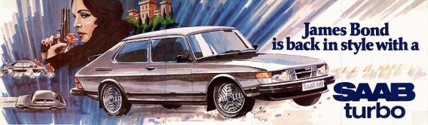 James Bond et la Saab 900 Turbo « Silver Beast »